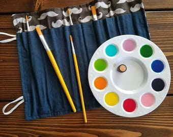 paint brush roll - aromatherapy watercolors