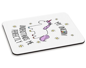Lila My Unicorn Understands Me PC Computer Mouse Mat Pad