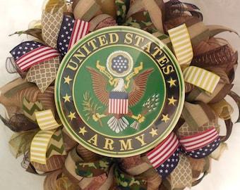 Army wreath, Army Wreaths, United states army wreath, united states army wreaths, Army decor, Army door hanger, united states army