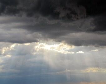 Rays of Sun Through Cloud Nature Photograph