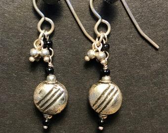 Silver Disc Earrings
