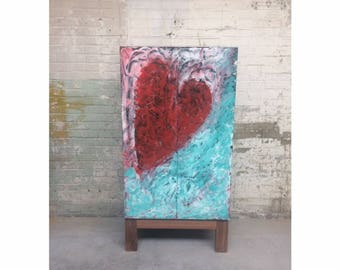 Queen of hearts cabinet. Art & furniture combined.