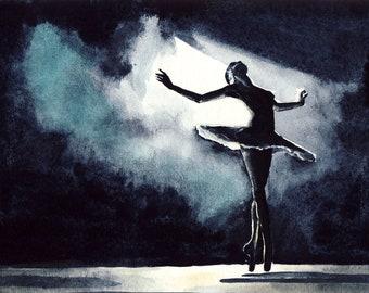 Ballet Art Ballerina Dancer Print Misty Copeland Inspirational Art Ballet Tutu Dance Studio Decor Dancer Gift for Her Ballerina Art Print