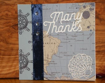 Hand made Thank You Greeting card.