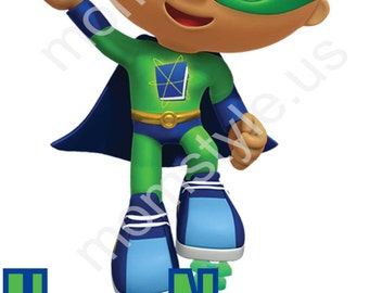 Super Why iron-on transfer ps