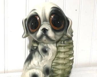 Vintage Big Eyed Sad Dog Planter