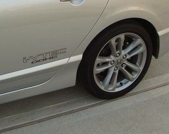 Pair of Honda VTEC Decal Sticker Honda Civic Si Accord Integra CR-X CSX