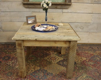 """Driftwood Coffee Table (30"""" x 30"""" x 18 to 30"""" H)"""