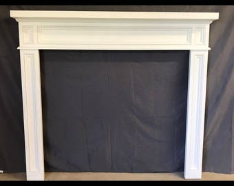 dark dogberry collections x w d surrounds in shop pl surround lowes fireplaces heating h at fireplace mantel mantels com stoves cooling