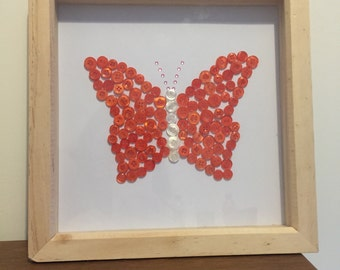 Button art butterfly