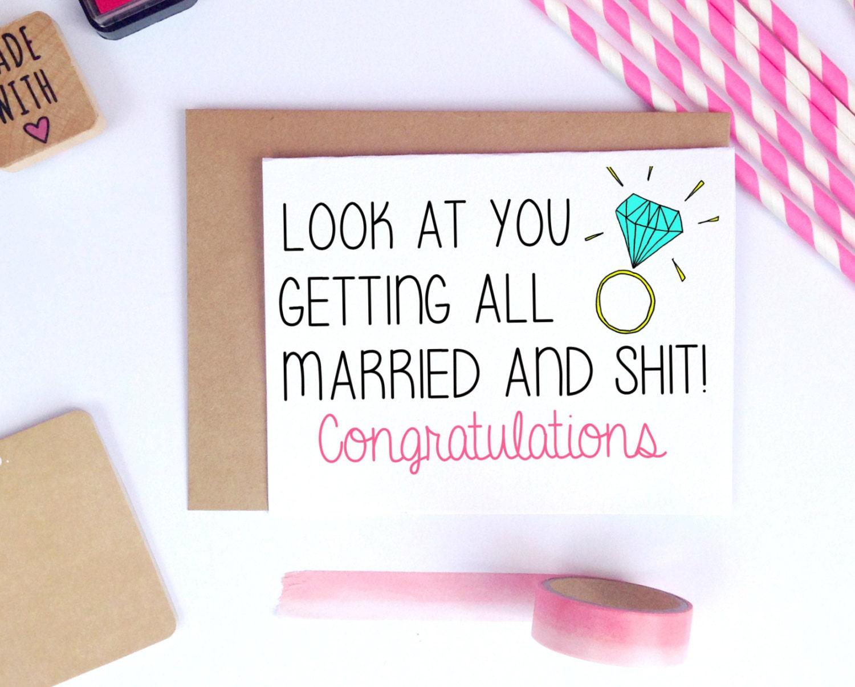 Funny wedding card wedding congratulations card card for zoom kristyandbryce Choice Image