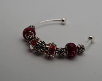 Read Beaded Curved Bracelet