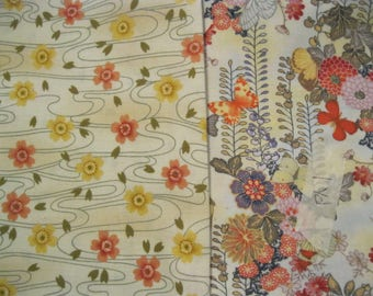 Cotton Quilting Fabric - Asian Floral Prints