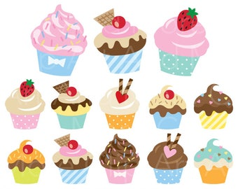 cupcake clipart etsy rh etsy com cupcake clip art outline cupcake clipart free download
