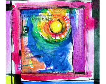 Painted Prayer No. 4 ...  art archival Spiritual print from original painting by Kathy Morton Stanion EBSQ
