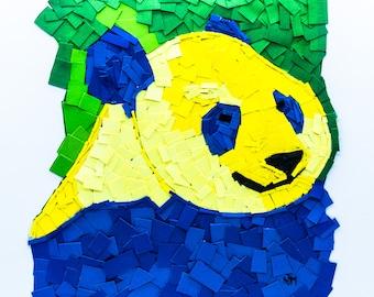 A3 Print of Original Handmade Panda Collage