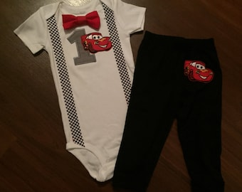 Cars baby boy first Birthday outfit, cars 1st Birthday Party theme