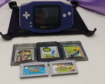 Blue Gameboy Advance with 3 games 2 movies
