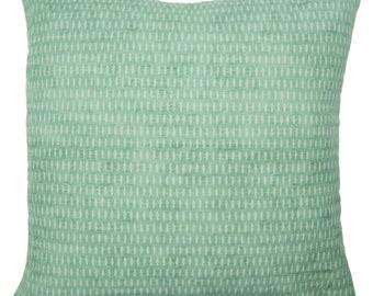 Green Dot, Printed, Linen, Cotton, Pillow Cover | 20x20, 24x24 | 'Isla'