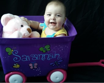 Personalized Toy Wagons, Custom Pull Wagons, Match Your Room, Favorite Characters