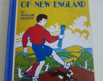 Little John of New England by Madeline Brandeis Antique Children's Book