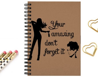 Notebook journal inspirational quotes