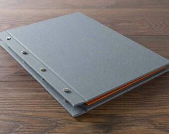 Custom Screw Post Portfolio Book. Ideal for Designers, Photographers & Artists