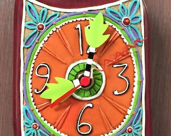 Wine Time Red Clock