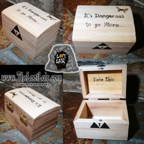 Little Wooden Triforce Chest Zelda Ring Keepsake Rune