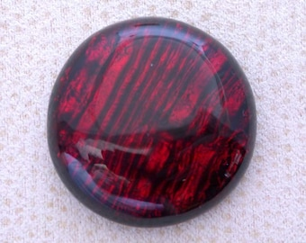 26x27mm Fused Dichroic Glass Cabochons - Burning Embers Red Color - A208
