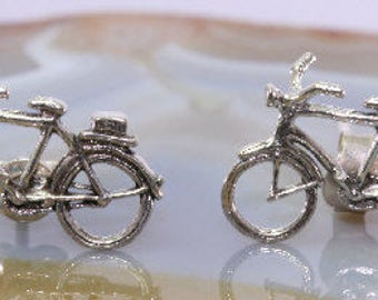 Bicycle, ear stud, 925 sterling silver - 1606