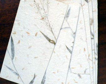 Envelope handmade, handmade mulberry paper floral envelope, 8 pieces