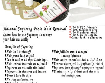 Sugaring paste natural hair removal - thicker hair, Body Sugaring, sugaring wax, sugar paste, sugar hair removal, natural sugaring 24 oz