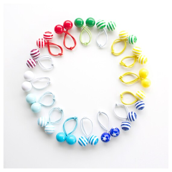 SCHOOL BOBBLES. School Hair ties. Hair bobbles. Hair accessories. Do you see your school's colours here?