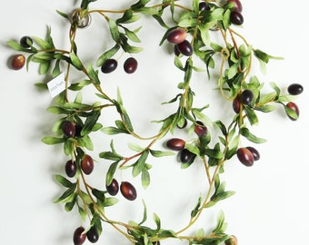Artificial Olive Vine, Fake Olive Garland, Great for Displays and Decoration