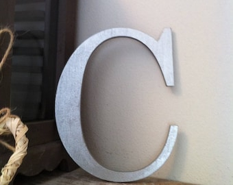 Giant Wooden Letter - C - Times Roman Font, 50cm high, 20 inch, any colour, wall letter, wall decor - various colours & finishes