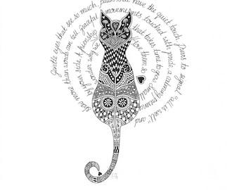 Zendoodle illustration prints by Jackie Isard