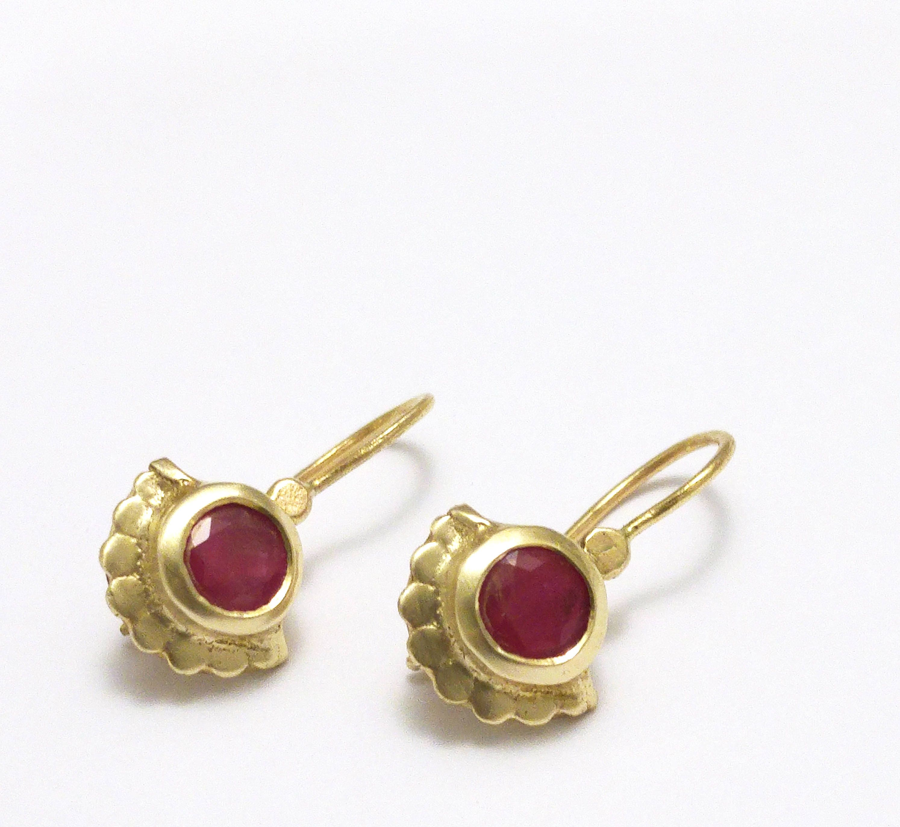 ruby gold natural product chi jewellery earrings