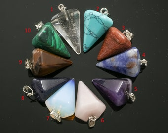Natural Gemstone Arrow Points-- Pendant/charm 1 inch long