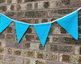 Handmade Blue Spotty Bunting