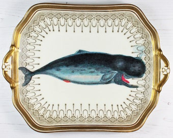 Whale of a Time cake plate