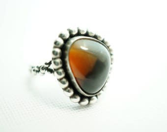 Montana Agate RING, Sterling Silver US Size 6, Yellowstone Park Region