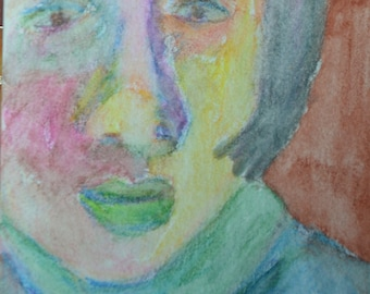 Original ACEO Watercolor Painting- A Face