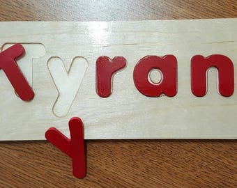 Montessori Name Puzzles (Personalized) -  Helping Kids to learn Words and Names