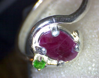 Beautiful Ruby Tsavorite Ring