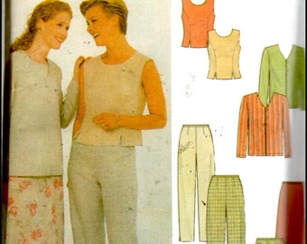 Simplicity 5169  Misses' Jacket, Top, Pants And Skirt  Size (16-20)    UNCUT