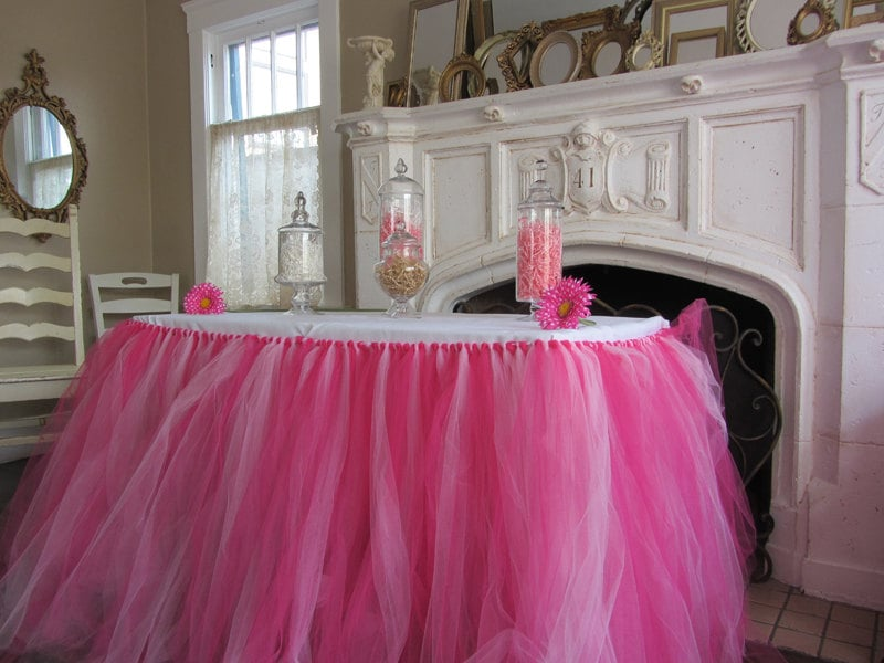 Description These Tulle Tutu Table Skirts