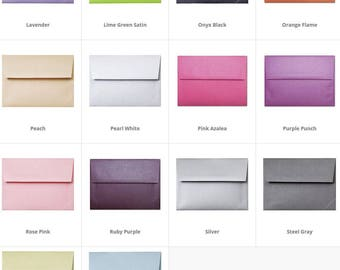 50 Metallic Envelopes - Straight Flap - elegant shine invitation envelopes