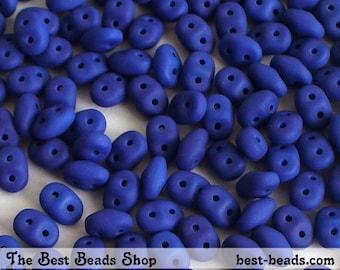20g (240pcs) Neon Blue Super Duo Czech Glass Seed Beads 5x2.5mm UV Active
