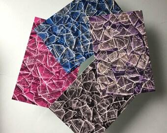 Brisé en verre plafond cartes postales - paquet de 20